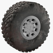 Грузовик грязная шина 3d model