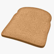 Brown Toast 3D Model 3d model