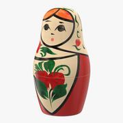 Rosyjska lalka zagnieżdżona 3d model