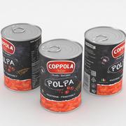 Coppola Polpa Pomodoro Tomato Food Can 400g 3d model