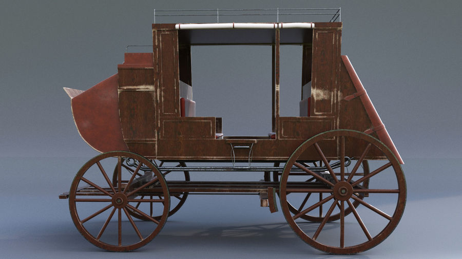 Le chariot royalty-free 3d model - Preview no. 4