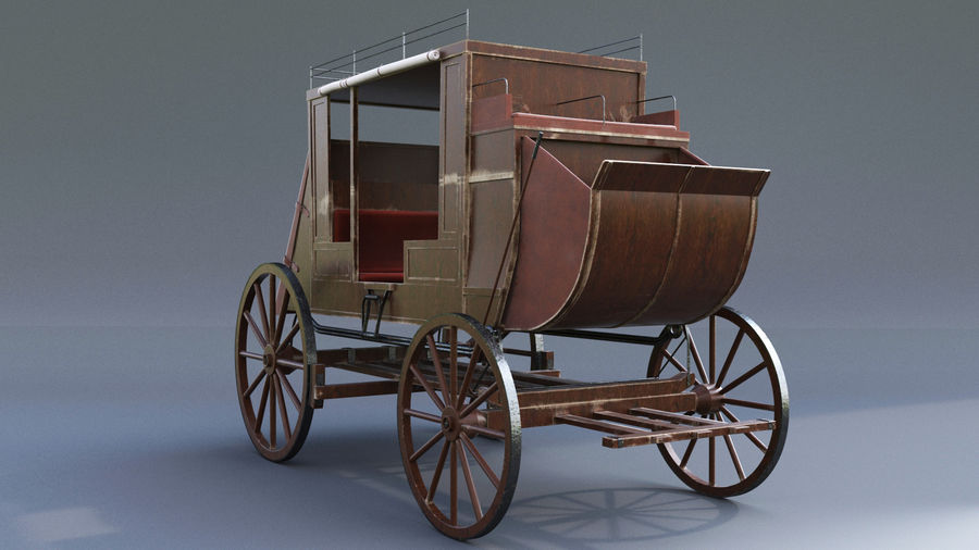 Le chariot royalty-free 3d model - Preview no. 2