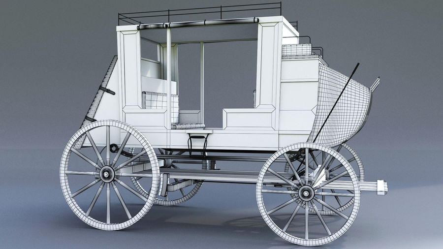 Le chariot royalty-free 3d model - Preview no. 6