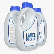 Shampoo Plastic Bottle 3d model