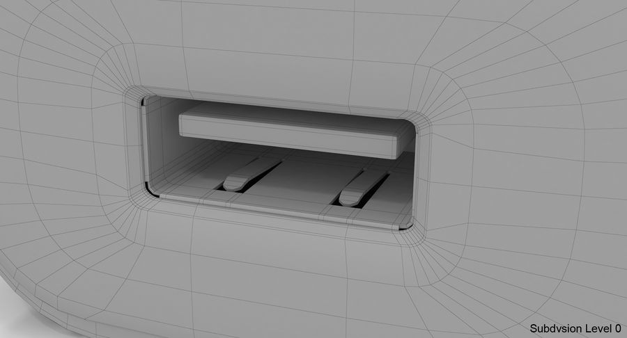 USB-Ladegerät Weiß royalty-free 3d model - Preview no. 17