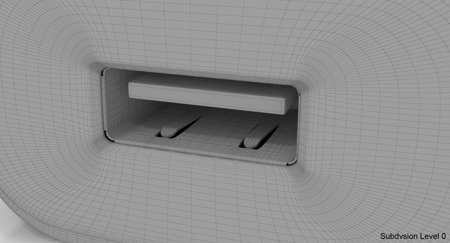 USB-Ladegerät Weiß royalty-free 3d model - Preview no. 18