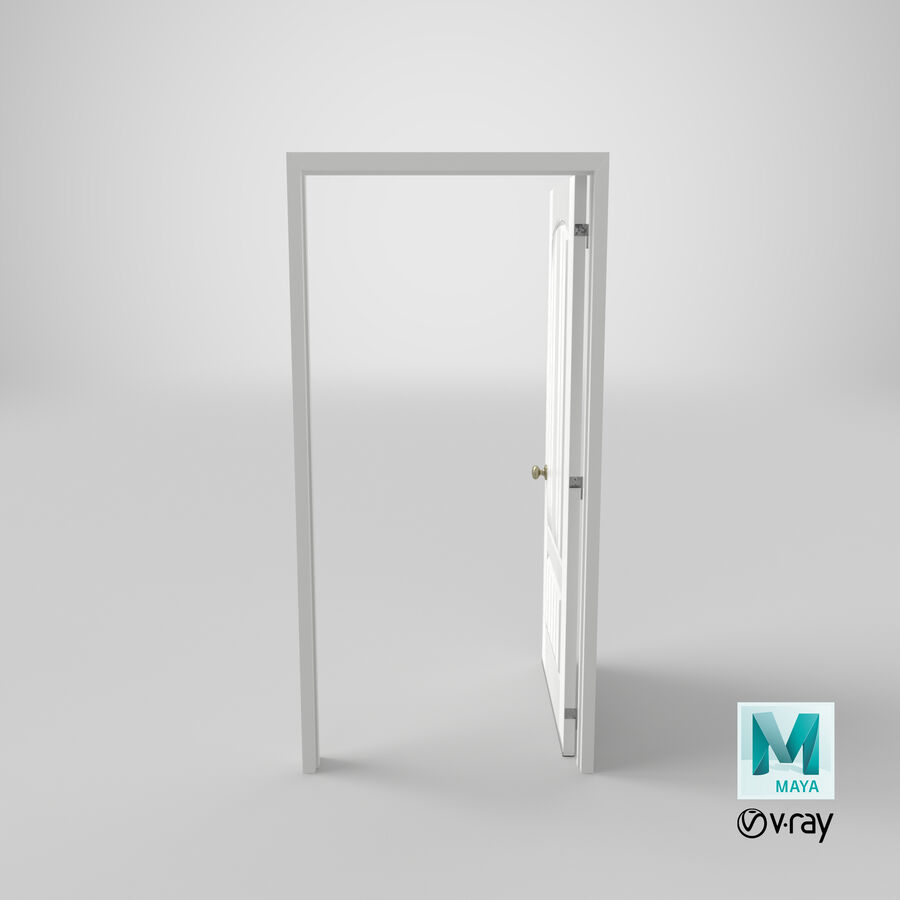 Exterior Door 3 Open royalty-free 3d model - Preview no. 19