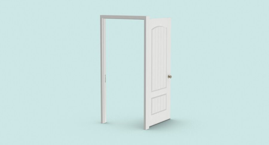 Exterior Door 3 Open royalty-free 3d model - Preview no. 6
