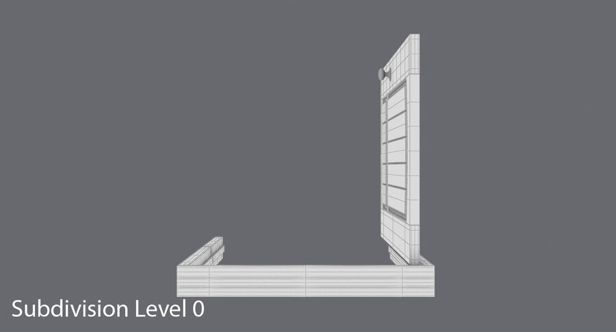 Exterior Door 3 Open royalty-free 3d model - Preview no. 13