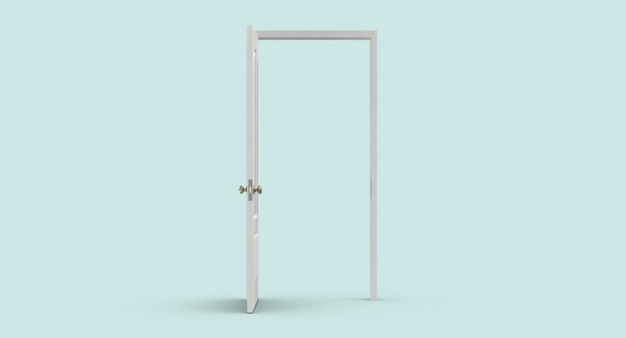 Exterior Door 3 Open royalty-free 3d model - Preview no. 7