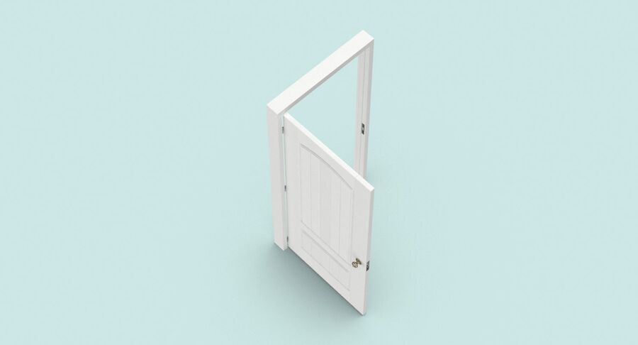 Exterior Door 3 Open royalty-free 3d model - Preview no. 4