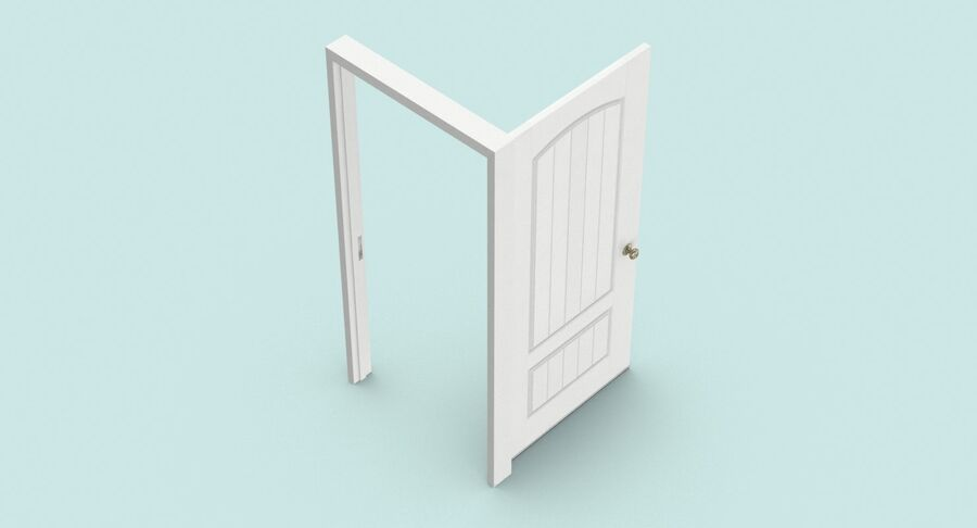 Exterior Door 3 Open royalty-free 3d model - Preview no. 8