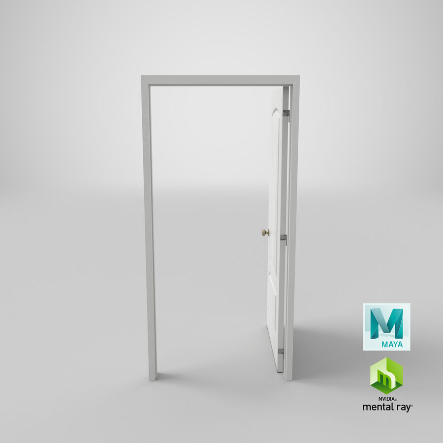 Exterior Door 3 Open royalty-free 3d model - Preview no. 20