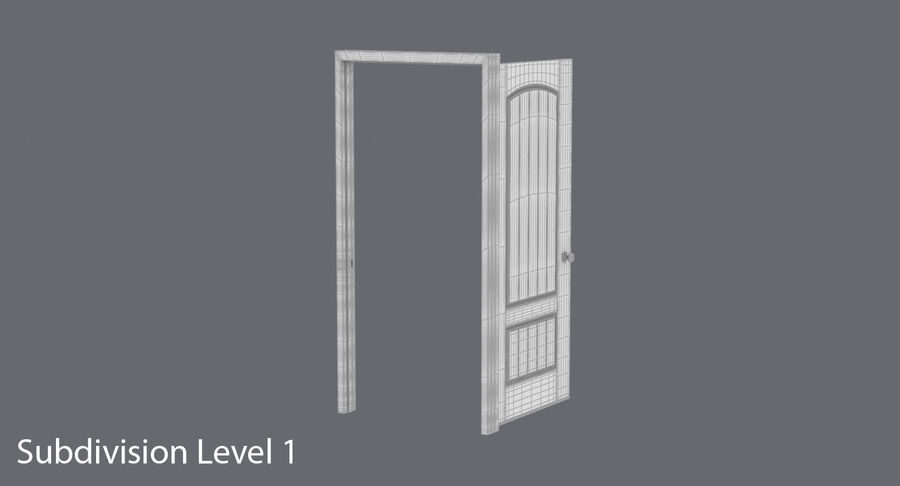 Exterior Door 3 Open royalty-free 3d model - Preview no. 17