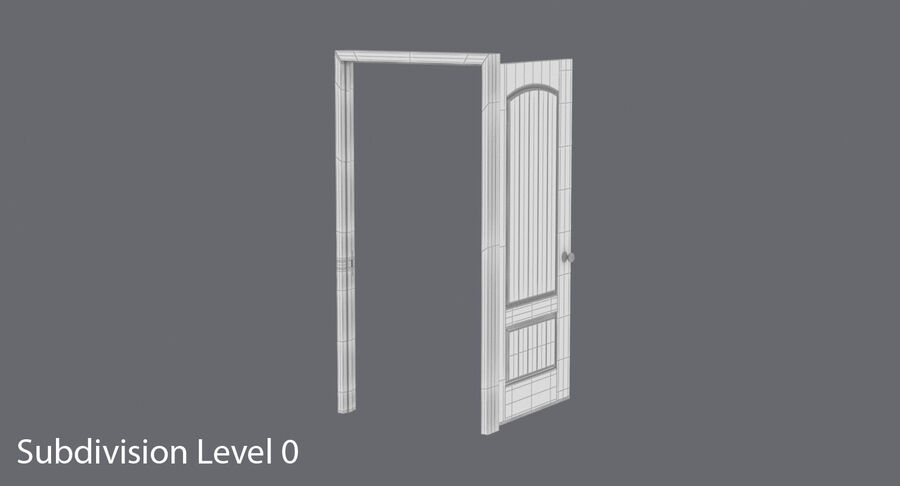 Exterior Door 3 Open royalty-free 3d model - Preview no. 14