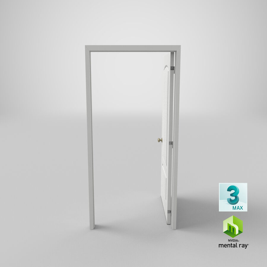Exterior Door 3 Open royalty-free 3d model - Preview no. 22