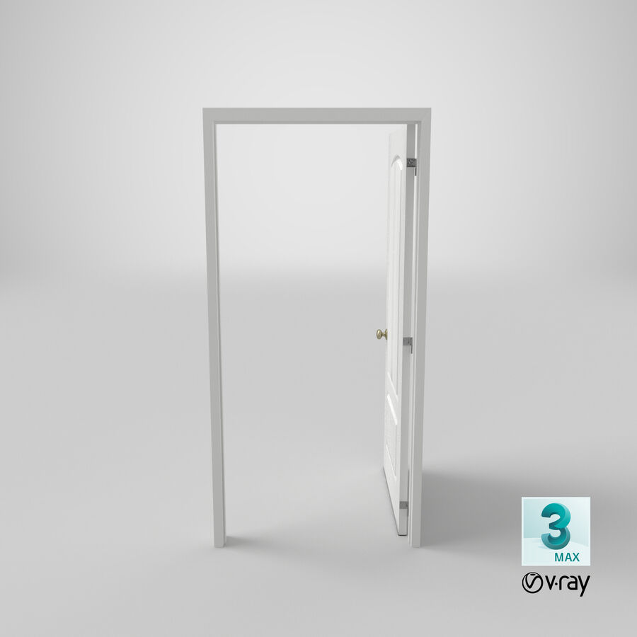 Exterior Door 3 Open royalty-free 3d model - Preview no. 21