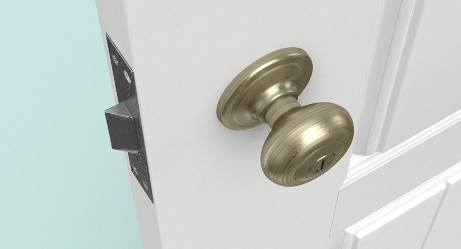 Exterior Door 3 Open royalty-free 3d model - Preview no. 11