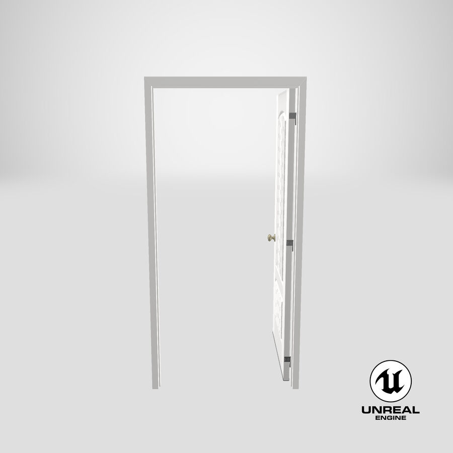 Exterior Door 3 Open royalty-free 3d model - Preview no. 24