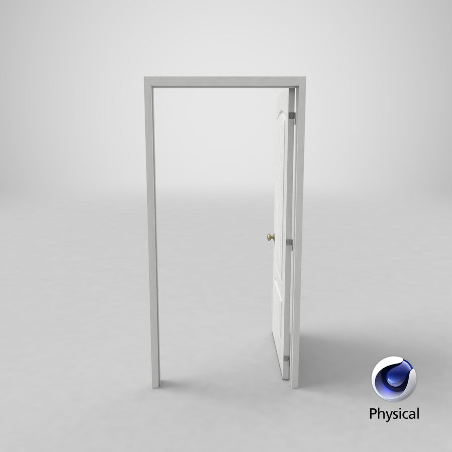 Exterior Door 3 Open royalty-free 3d model - Preview no. 23
