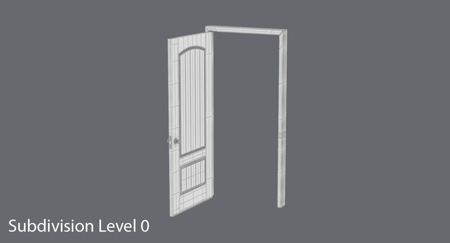Exterior Door 3 Open royalty-free 3d model - Preview no. 12