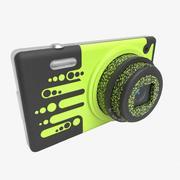 Stylowy aparat fotograficzny 3d model