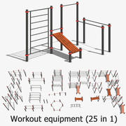 Workout equipment (25 in 1) 3d model