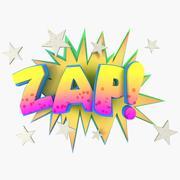 Onomatopoeia Comic Book Word Zap 3d model
