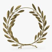 Gold Laurel Wreath 3d model