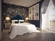 Klassiskt sovrum inredning 3d model