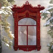 Oyulmuş ahşap pencere 3d model