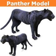 Black Panther 3D Models game ready 3d model