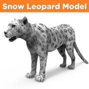 Snow Leopard model 3d model