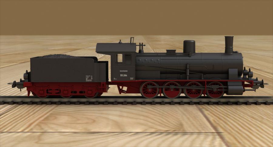 おもちゃの蒸気機関車 royalty-free 3d model - Preview no. 4