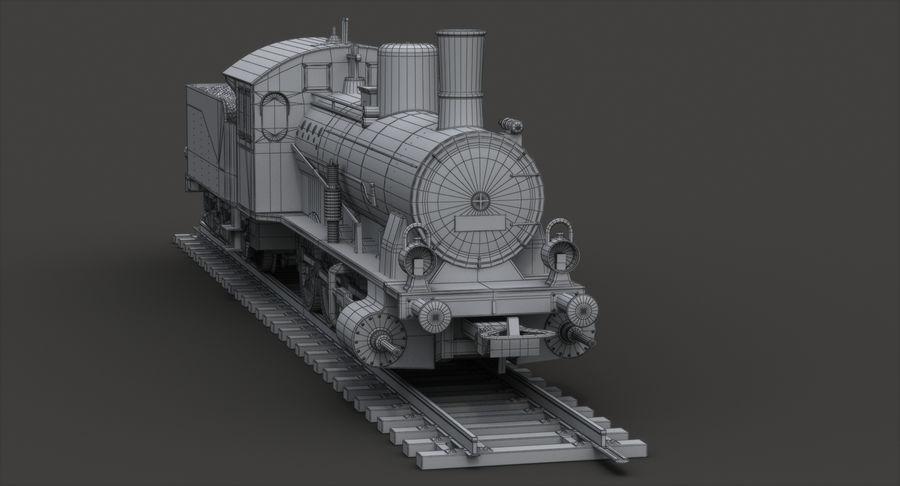 おもちゃの蒸気機関車 royalty-free 3d model - Preview no. 9