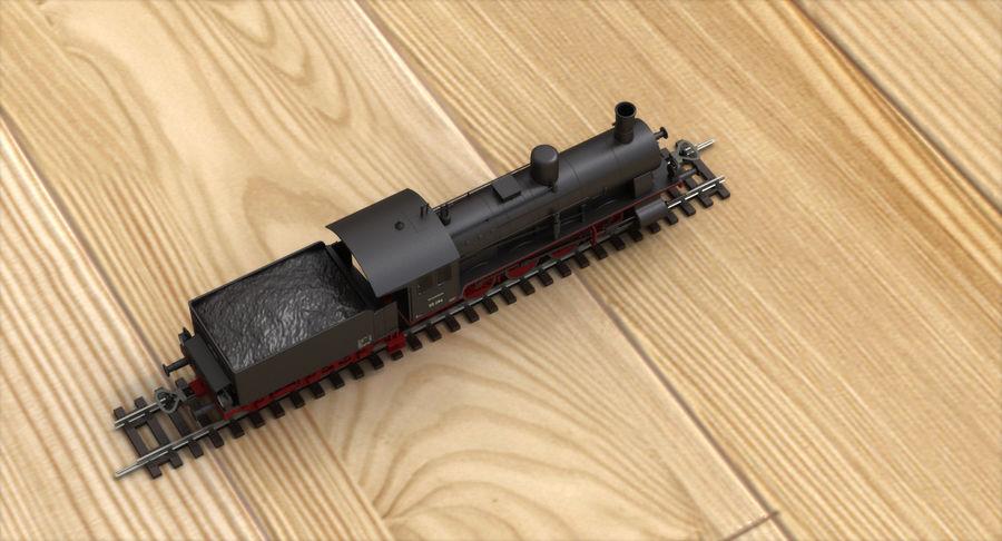 おもちゃの蒸気機関車 royalty-free 3d model - Preview no. 7