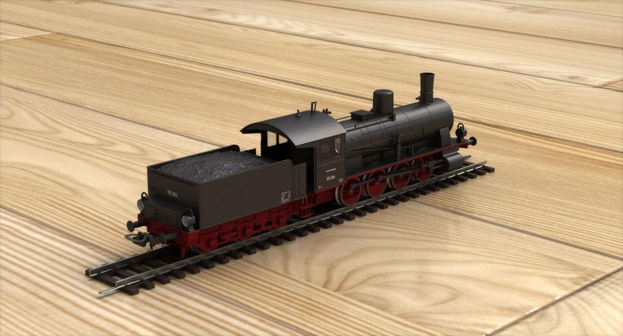 おもちゃの蒸気機関車 royalty-free 3d model - Preview no. 5