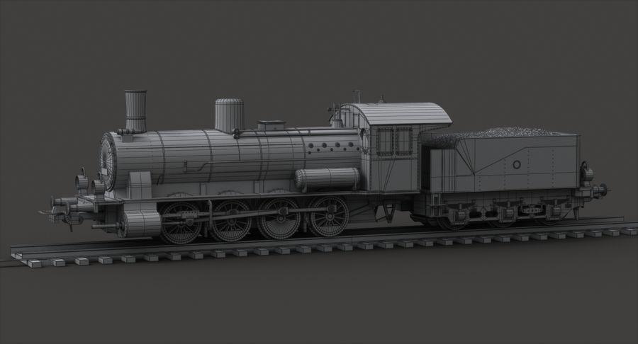 おもちゃの蒸気機関車 royalty-free 3d model - Preview no. 10