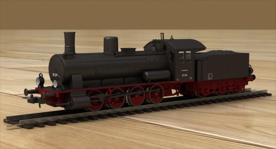 おもちゃの蒸気機関車 royalty-free 3d model - Preview no. 2