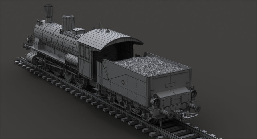 おもちゃの蒸気機関車 royalty-free 3d model - Preview no. 11