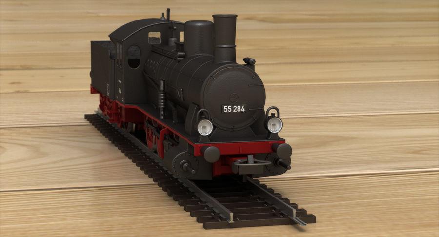おもちゃの蒸気機関車 royalty-free 3d model - Preview no. 8