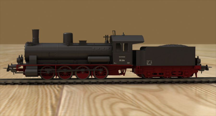 おもちゃの蒸気機関車 royalty-free 3d model - Preview no. 3