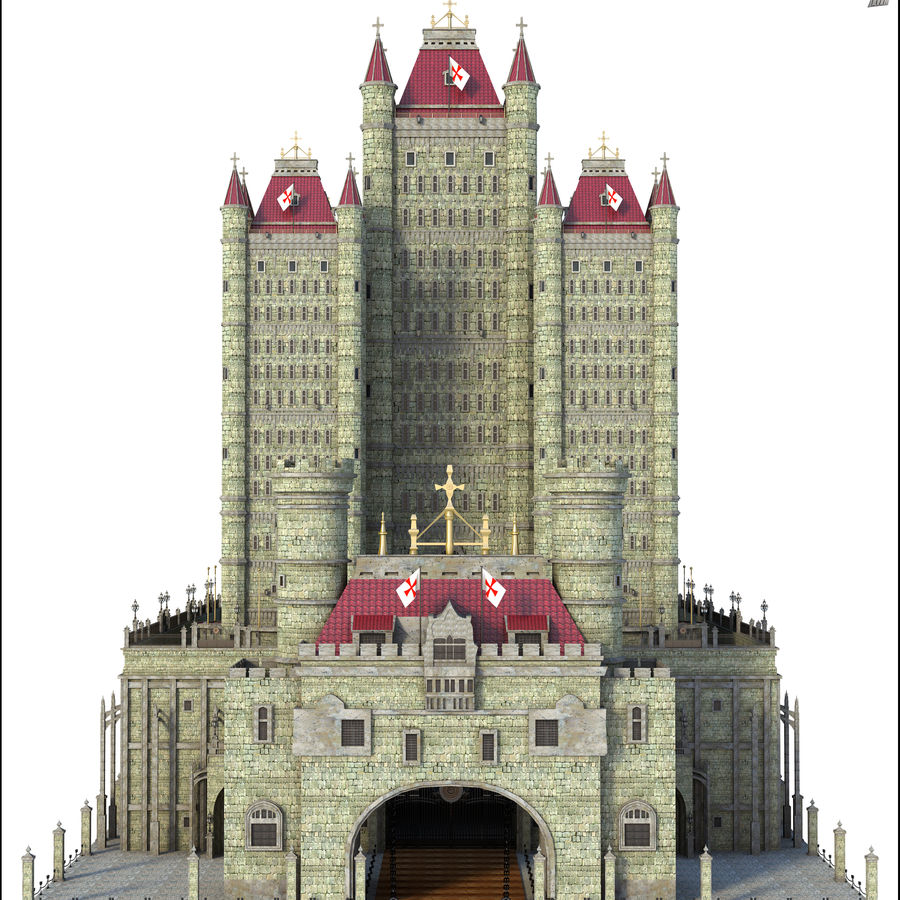 Fantasy Towers Castle royalty-free 3d model - Preview no. 3