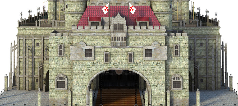 Fantasy Towers Castle royalty-free 3d model - Preview no. 7