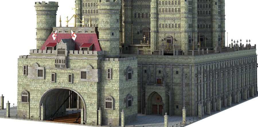 Fantasy Towers Castle royalty-free 3d model - Preview no. 5