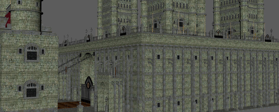 Fantasy Towers Castle royalty-free 3d model - Preview no. 15