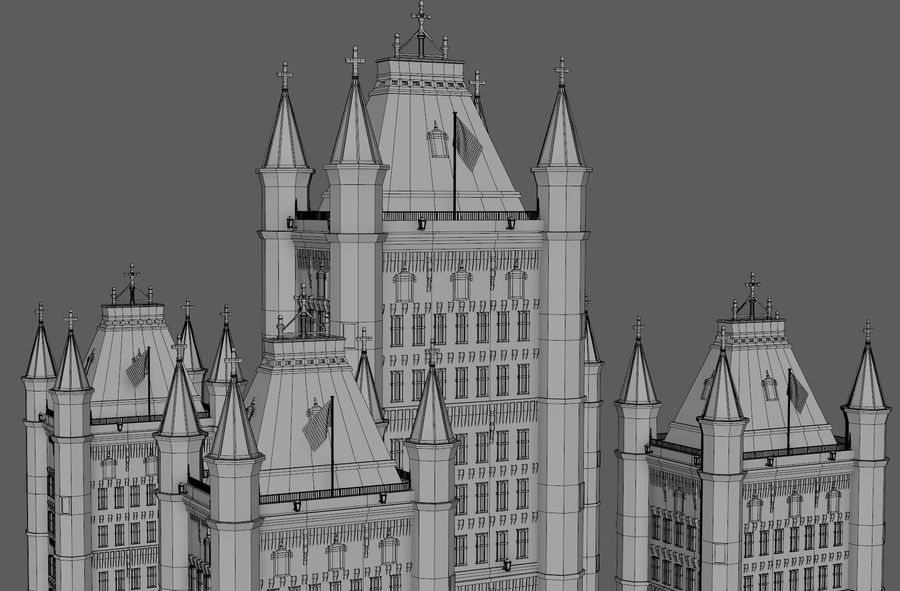Fantasy Towers Castle royalty-free 3d model - Preview no. 22