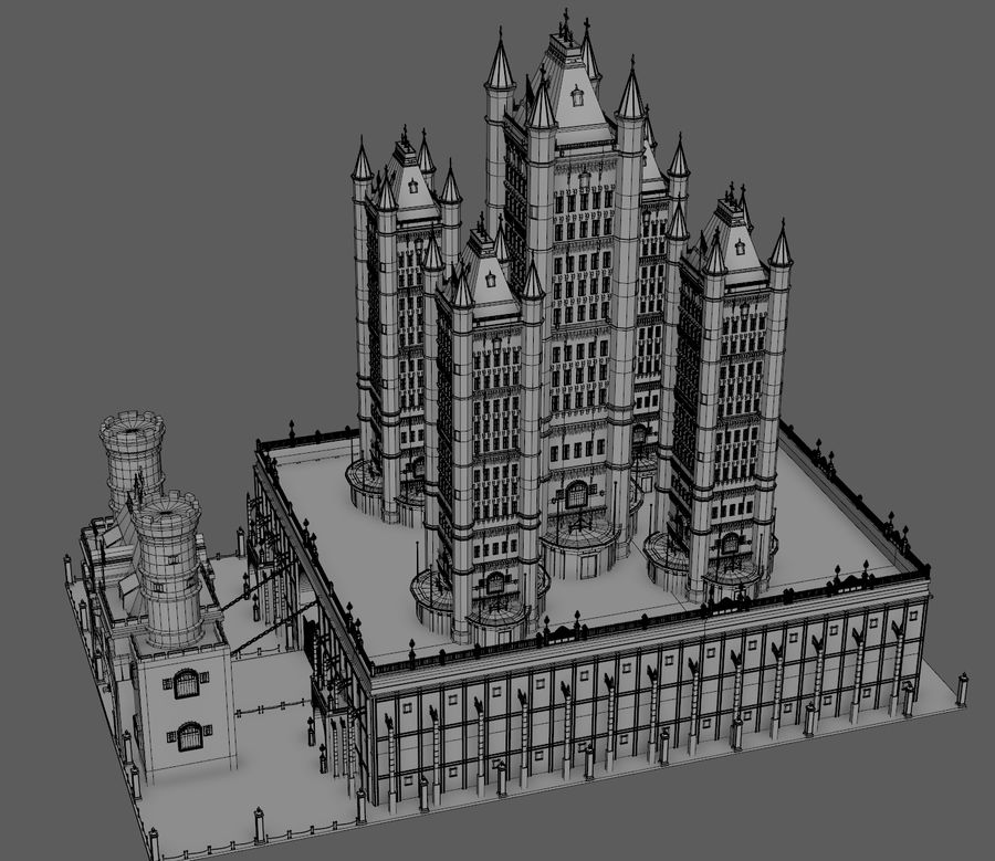 Fantasy Towers Castle royalty-free 3d model - Preview no. 20