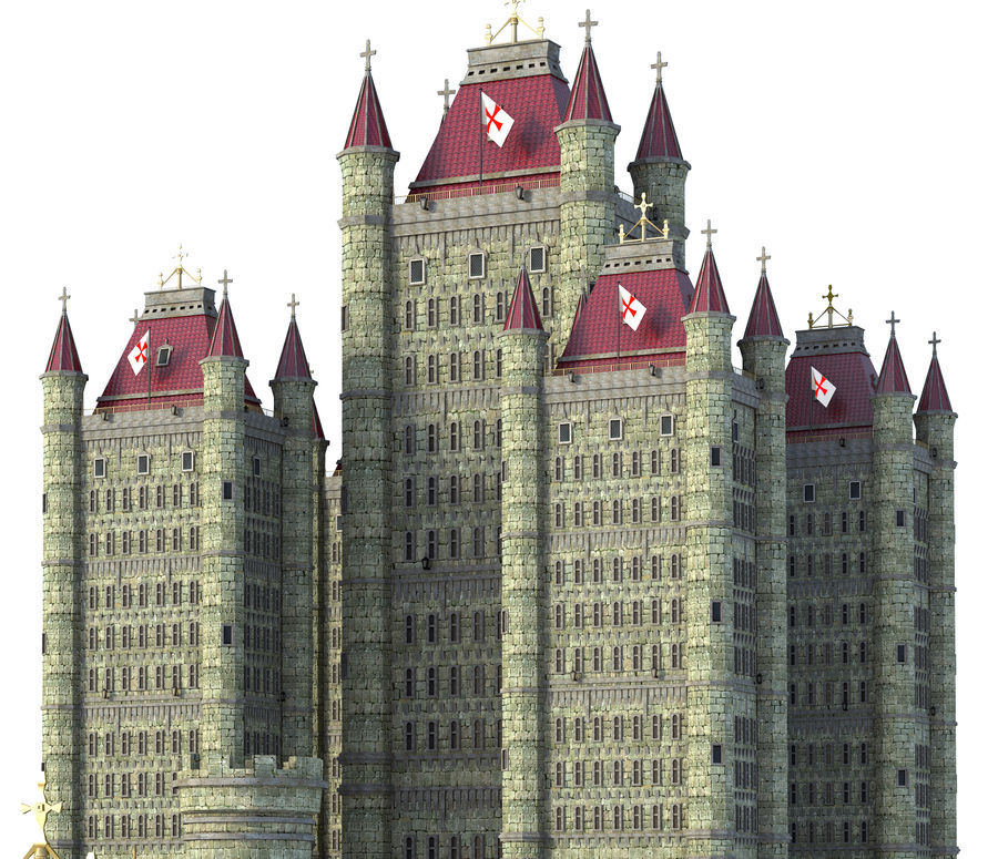Fantasy Towers Castle royalty-free 3d model - Preview no. 6