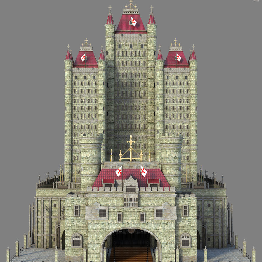 Fantasy Towers Castle royalty-free 3d model - Preview no. 4